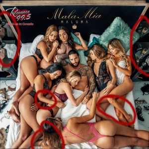 Maluma errores de Photoshop